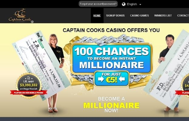 real money online casinos captain cooks